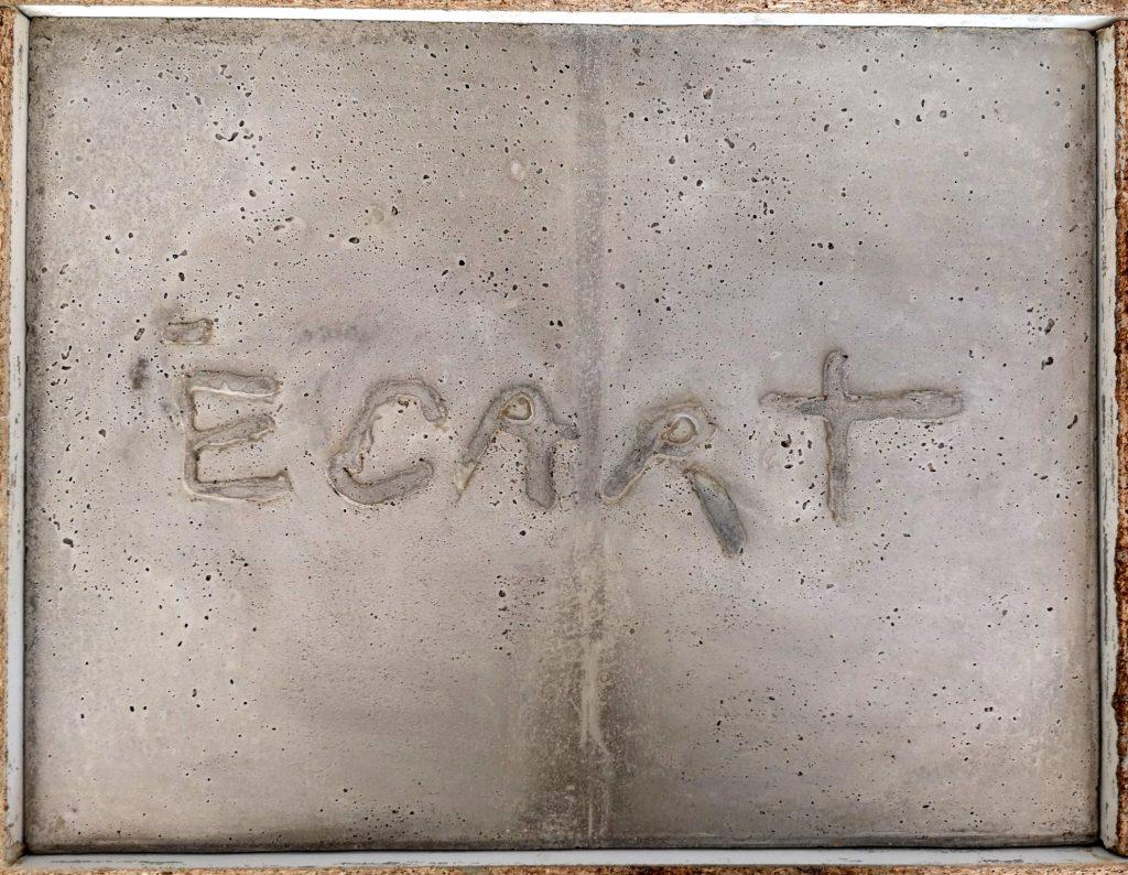 Écart / tracÉ
